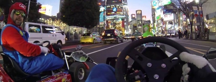 Tokyo streets Real-life Mario Kart drive